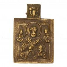 Икона нагрудная с оборотным узором «Николай Чудотворец»