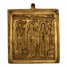 Икона «Великомученик Георгий, священномученики Антипа и Власий»
