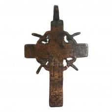 Медный нательный крестик с Голгофским крестом