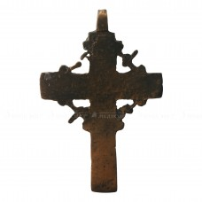 Медный нательный крестик с цатой и серебряной пломбой, pic. 1