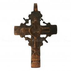 Медный нательный крестик с цатой и серебряной пломбой