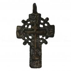 Нательный крест «Мужской с венцом из якорьков»