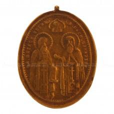 Образок «Зосима и Савватий Соловецкие. Голгофский Крест»
