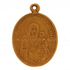Образок «Икона Богоматерь Иверская. Николай Чудотворец»