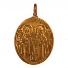 Образок «Богородица Троеручница. Святые Антоний и Феодосий»