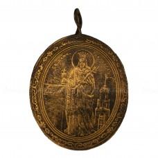Образок-жетон «Великомученица Варвара. Преподобные Антоний и Феодосий Печерские»