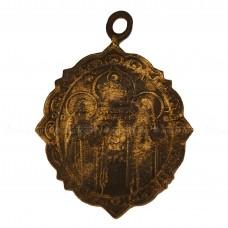 Образок «Святые преподобные Антоний и Феодосий Печерские. Четырёхконечный крест»