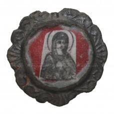 Стеклянный образок «Богородица и Иоанн Святогорский»