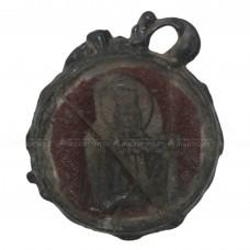 Стеклянный образок «Покров и великомученица Параскева»