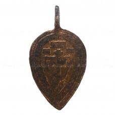 Большая листовидная привеска «Голгофский крест»