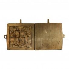 Миниатюрный складень «Богоматерь Знамение и Троица Ветхозаветная», pic. 1