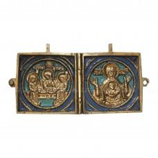 Миниатюрный складень «Богоматерь Знамение и Троица Ветхозаветная»