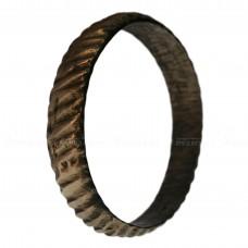 Медное кольцо с засечками