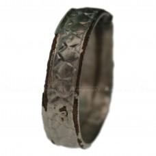 Старинное серебряное кольцо на медном каркасе