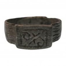 Посеребрённый перстень «Ордынского периода с растительным узором»