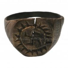 Медный перстень «Домонгольский со свастическим знаком»