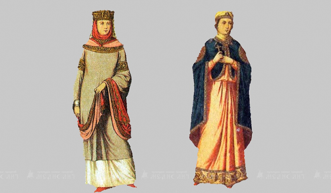 Женский княжеский костюм