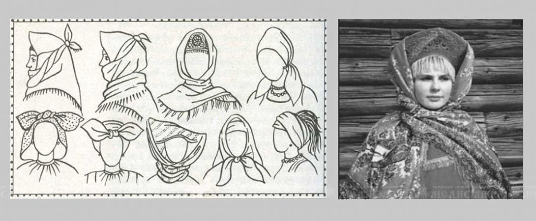 Головные уборы в форме платков или полотенец