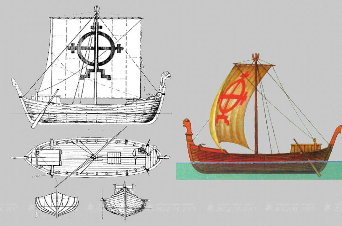 Многочисленные фрагменты корабля, обнаруженные в Новгороде